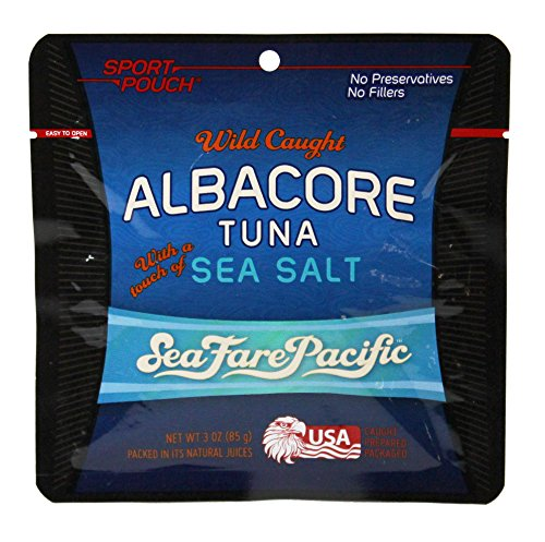 Sea Salt Albacore Tuna – Sea Fare Pacific, convenient 3oz Sport Pouch, wild caught sustainable, 100% traceable USA family owned fishing boats, pole & line, once cooked in its natural fish oil Review