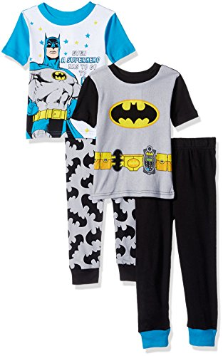 Batman Toddler Boys' 4-Piece Cotton Pajama Set at Gotham City Store