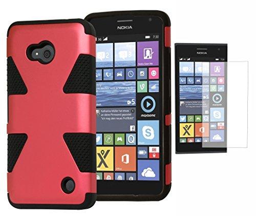 Lumia 640 Phone Case, Bastex Hybrid Soft Black Silicone Cover Hard Marsala Red Dynamic Design Case for Microsoft Nokia Lumia 640INCLUDES Screen Protector (Cute Cases For Nokia Lumia)