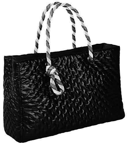 Bag Hand Quilted Meralu L4k3 Lake Black 1x4naUqU