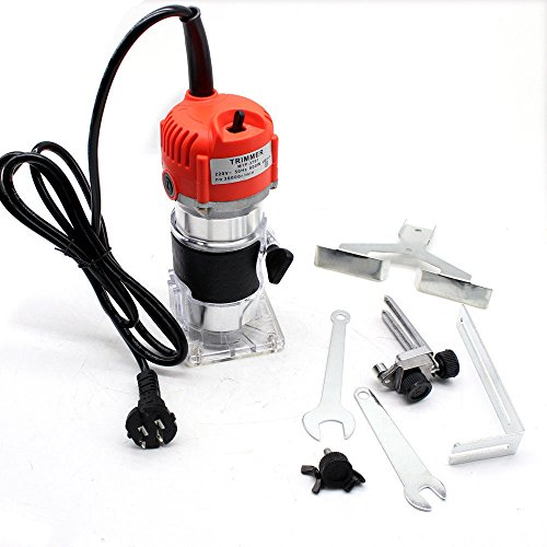 KANING 30000RPM 1/4'' Electric Hand Trimmer Wood Laminate Palm Router Joiner Tool 800W ()