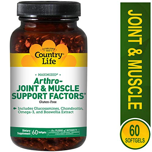 Country Life - Arthro-Joint and Muscle Support Factors - 60 Softgels - 60 Life Softgel