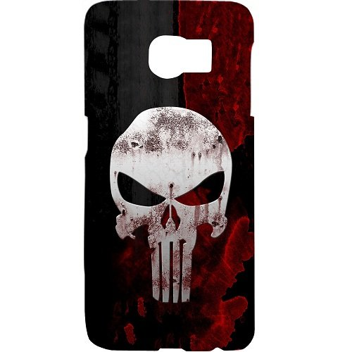 Casotec Punisher Skull Design 3D Hard Back Case Cover for Samsung Galaxy S6 Edge