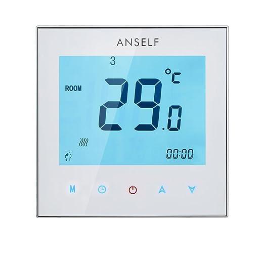 75 opinioni per Anself 3A 110-230V programmabile settimanale Display LCD Touch Screen Acqua