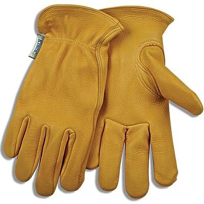 KINCO 90W-S Women's Unlined Deerskin Driver Gloves, Small, Golden