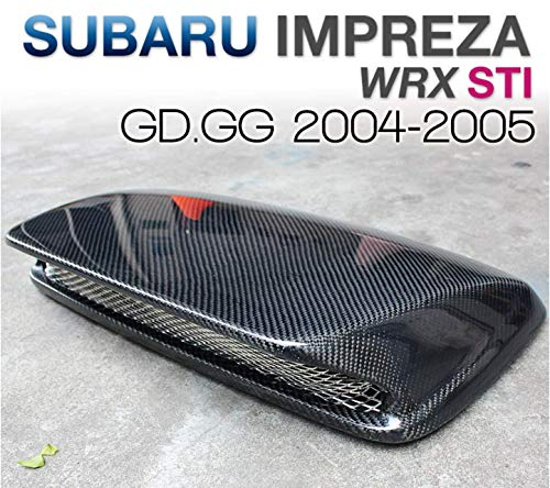 tunez Sti-Style Carbon Fiber Hood Scoops Hood Vents for Subaru Impreza WRX/STI 2004-2005 - Wrx Sti Hood Scoop