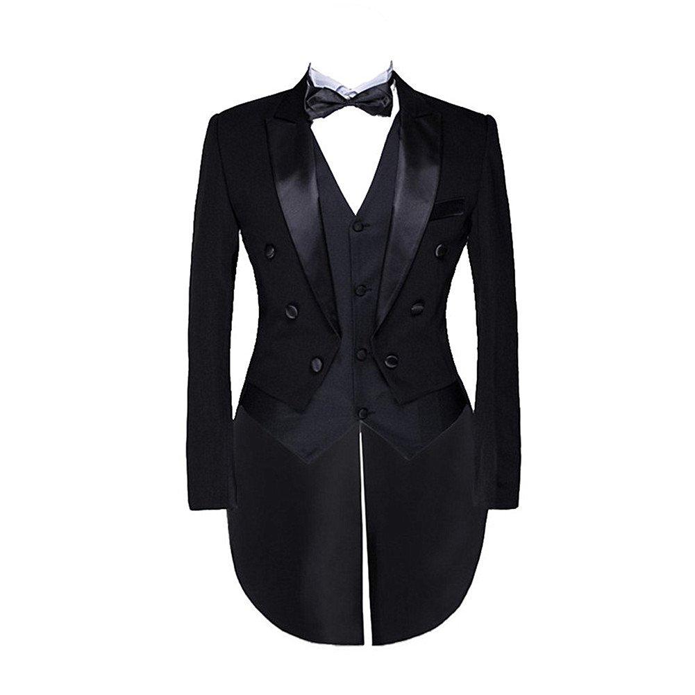 Suit Me Uomo 3 parti di costumi adatti frac gilet pantaloni smoking giacca