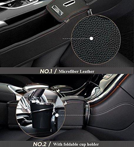 new power premium pu leather side pocket organizer car seat filler gap space storage box bottle. Black Bedroom Furniture Sets. Home Design Ideas