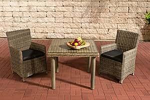 Juego de muebles de jardín muebles de jardín,, asiento Grupo Dorado K100, Natura/antracita, polirratán de estructura de aluminio, mobiliario de jardín, sillas