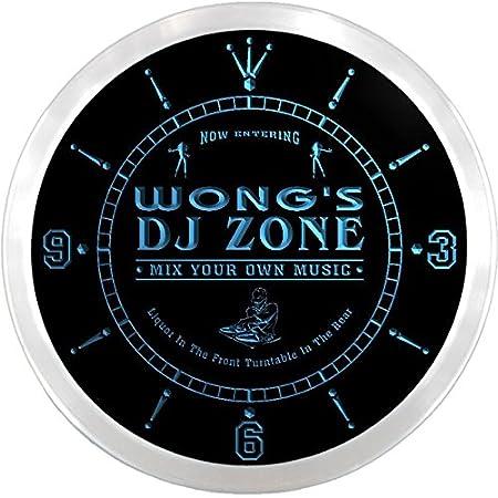 ncqh1459-b música Tocadiscos Wong es DJ Zone de cerveza LED Neon ...