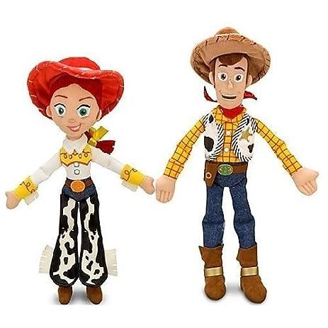 Amazoncom Disney Pixar Toy Story JESSIE 16  WOODY 18 Plush