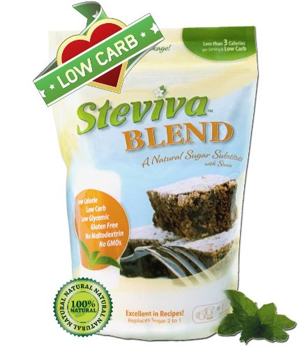 Steviva Blend - Erythritol, Stevia Blend NonGMO Low Carb Sweetener 1 Pound Bag by Steviva