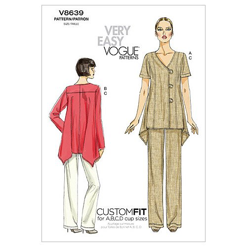 Vogue Patterns V8639 Misses' Top And Pants, Size F5 (16-18-20-22-24)