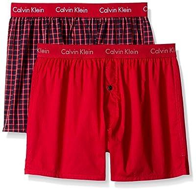 Calvin Klein Men's 2-Pack Woven Boxer