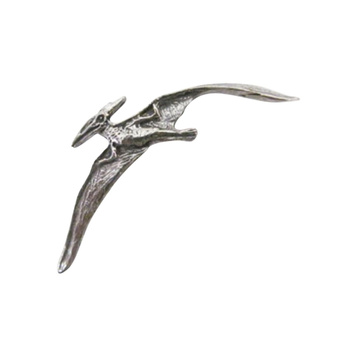Creative Pewter Designs, Pewter Pterodactyl Flying Lapel Pin Brooch, Antiqued Finish, A190