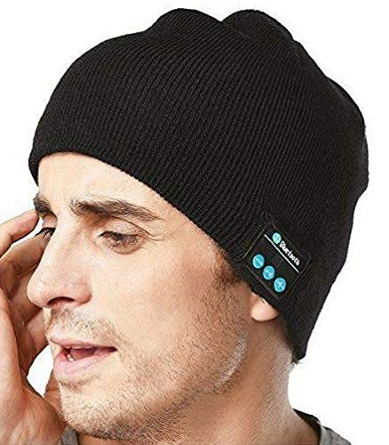 (XIKEZAN Unisex Bluetooth Beanie Winter Knit Hat V4.1 Wireless Musical Headphones Earphones w/ Speakers Beanies Hats Cap Unique Christmas Tech Gifts for Teen Young Boys Girls Men Women)