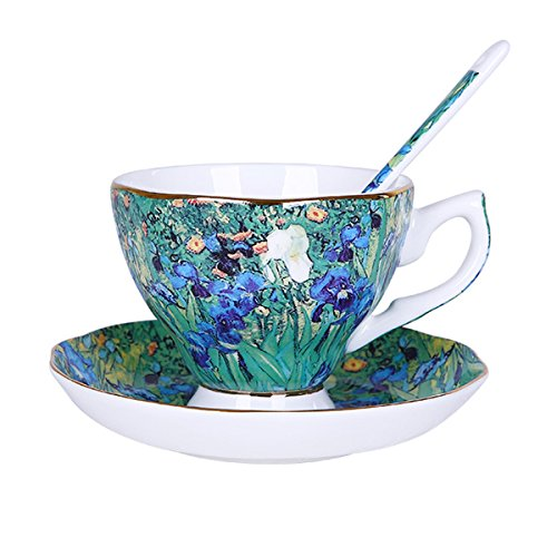 China Coffee Teacup - Vincent Van Gogh Bone China Tea Cup and Saucer Set With Gift Box,