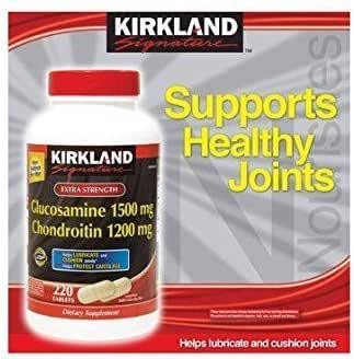 Kirkland Signature JYZRo, Glucosamine HCI 1500mg Chondroitin Sulfate 1200mg 220 Tablets (Pack of 2)