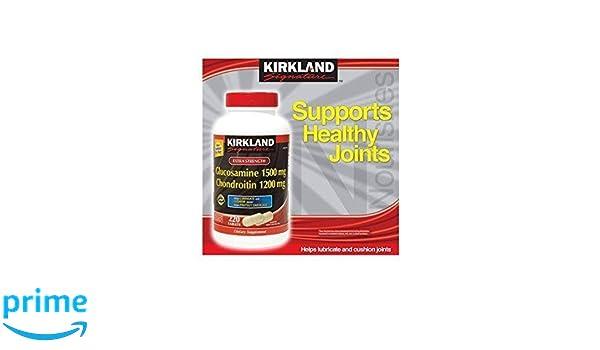 Kirkland Signature Extra Strength Glucosamine / Chondroitin 220 Tablets: Amazon.es: Salud y cuidado personal