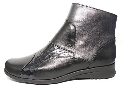 PITILLOS Damen botínes komfortabel erhältlich in schwarz und braun kombiniert mit Coco–�?405–�? Schwarz