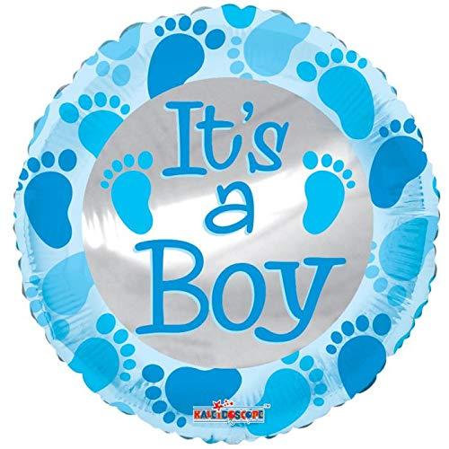 (It's A Boy Feet 18'' Mylar Balloon Baby Shower Birthday Party Decorations Supplies )