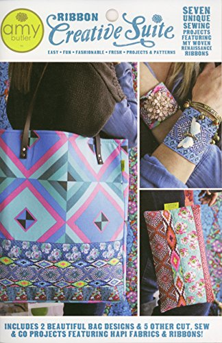 Amy Butler Ribbon Creative Suite Wristlet, HeadBand, Cuff and Tote Sewing Pattern