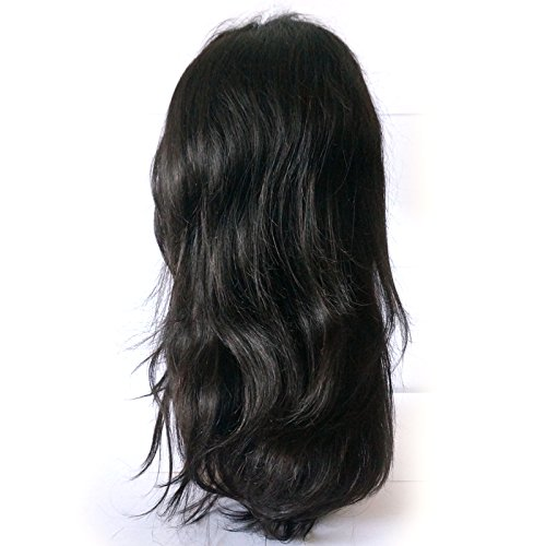 Fanshow Hair Pre Plucked 360 Lace Wig Straight Brazilian Virgin Hair 360 Lace Frontal Wig with Baby Hair 180 Density (16'')
