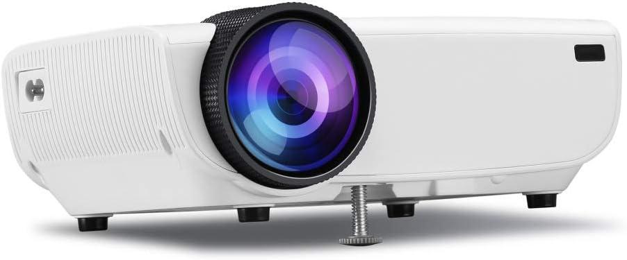 XIAOLONGY Mini Proyector Casero, Decodificador De Audio Dolby Proyector Portátil 1080P Lleno HD, Negro, Blanco,White: Amazon.es: Hogar