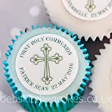 Holy Communion Personalised Cupcake Toppers - Icing or Wafer (Icing)