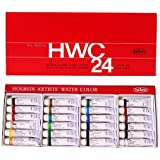 Watercolor Paint Set - Holbein W405 - 5ml Tubes - 24 vibrant colors - Lightweight and portable - Perfect for budding hobbyists and artists - Made in japan Holbein