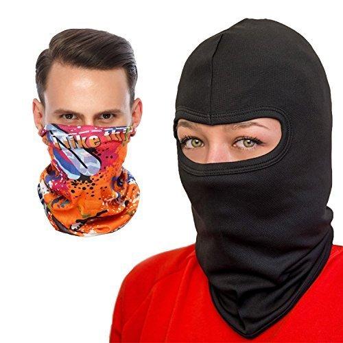 COZIA Premium Lightweight Balaclava - Full Face Ski Mask or Motorcycle Balaclava, Black, One Size]()