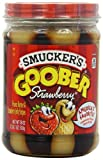 Smucker's Goober Strawberry Jelly & Peanut Butter Stripes, 18-Ounce (Pack of 6)