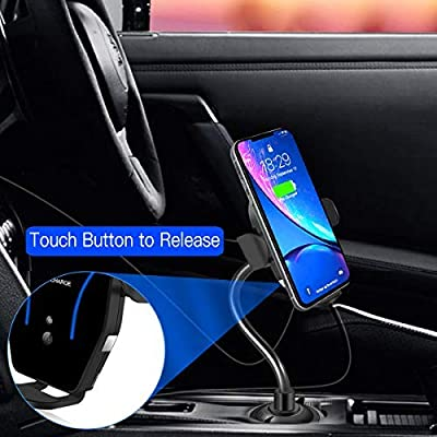 Car Cup Phone Holder&Air Vent Wireless Car Charger,[Automatic Infrared-Sensing][10W Fast Charging]Car Phone Mount Fits for Samsung Galaxy S10/S10+,iPhone 11/11 Pro/11 Pro Max/X/XS Max,QI-Enabled Phone: Electronics