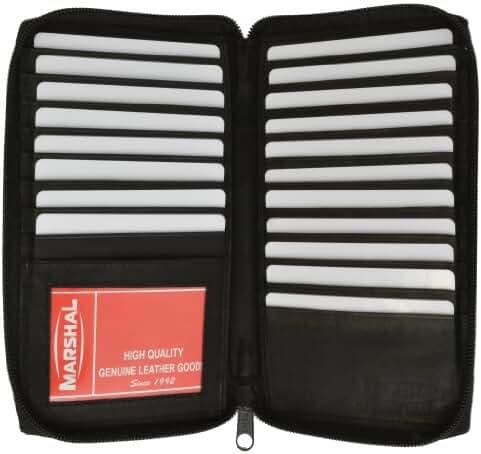 Genuine Leather Zipper Wallet Business & Credit Card Case Holder Bifold #729CF