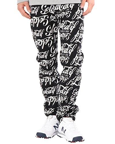 (ガッチャ ゴルフ) GOTCHA GOLF ロングパンツ ストレッチ オールド アメリカン パンツ 181GG1800 ブラック XXLサイズ