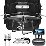 DJI Phantom 4 PRO + PLUS Obsidian Starter Kit w/ Compact Backpack, Drone World Exclusive Remote Lanyard, and iPhone Cable …