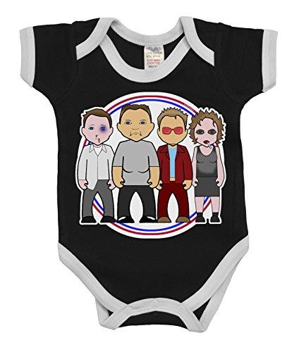 VIPwees Babygrow Fisty Cuffs Club Boys & Girls Baby - Pitt Brad Outfit