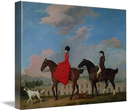 Imagekind Wall Art Print Entitled John and Sophia Musters Riding at Colwick Hall, 17 by The Fine Art Masters | 10 x 7