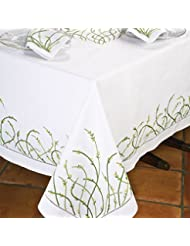Jardin DAmour Tablecloths White 70 Square