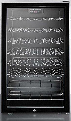 - Summit SWC525LBIADA Wine Chiller Beverage Refrigerator, Glass/Black