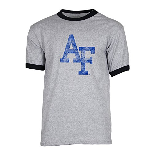 - Ouray Sportswear NCAA Air Force Falcons Men's Short Sleeve Ringer Tee, Athletic Heather/Black, Medium