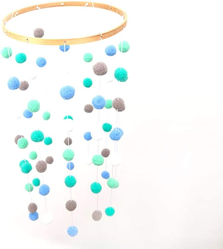 Moonvvin Hochet mobile pour b/éb/é avec pompons et clochettes pour chambre denfant D/écoration /à suspendre Tente D/écoration de photographie Accessoires Cadeaux
