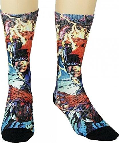 Dc Shoes Era - DC Comics The Flash Sublimated Character Crew Socks