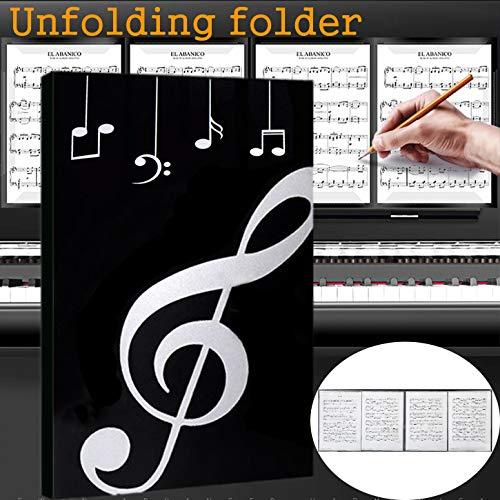 - Music Folder Unfolding Folder Sheet Music Folders Holder Band Folder Writable Musicians Folder A4 Size (Unfolding - black)