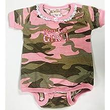 Pink Camo Girls Diaper Shirt