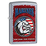 Marines Street Chrome Zippo Outdoor Indoor Windproof Lighter Free Custom Personalized Engraved Message Permanent Lifetime Engraving on Backside