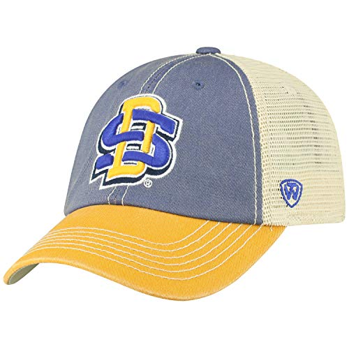 Top of the World Men's Relaxed Fit Adjustable Mesh Offroad Hat Team Color Icon, South Dakota State Jackrabbits Royal,
