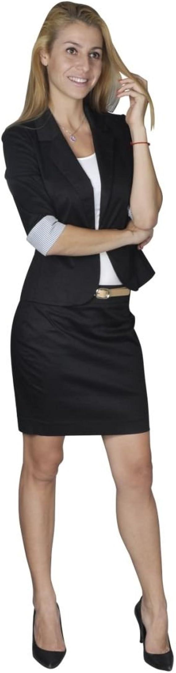 vidaXL Traje Mujer Suit Conjunto De Chaqueta Y Falda, Talla 36 ...