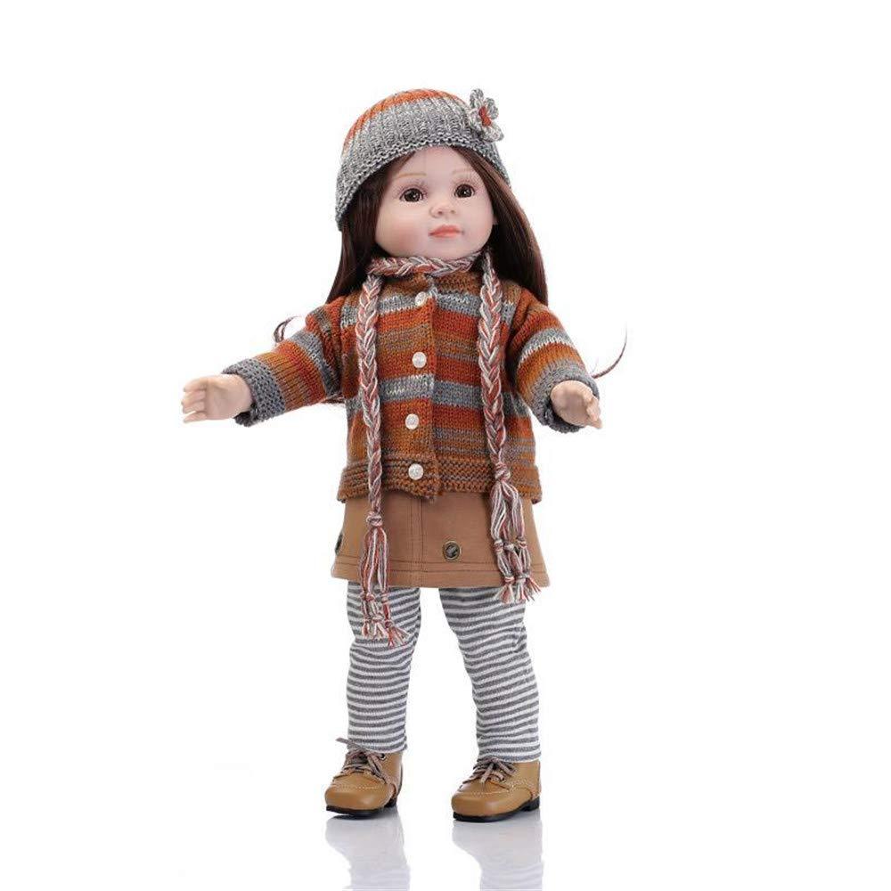 Minidiva Reborn Baby Puppe,100% handgemachte weiche Silikon cm 18