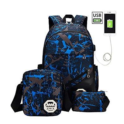 Laptop Backpack Lightweight Waterproof Travel Backpack Double Zipper Design with Cartoon Smile Girl School Bag Laptop Bookbag Daypack for Women Kids